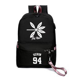 Same Style Casual Women'S College Wind Canvas Backpack -