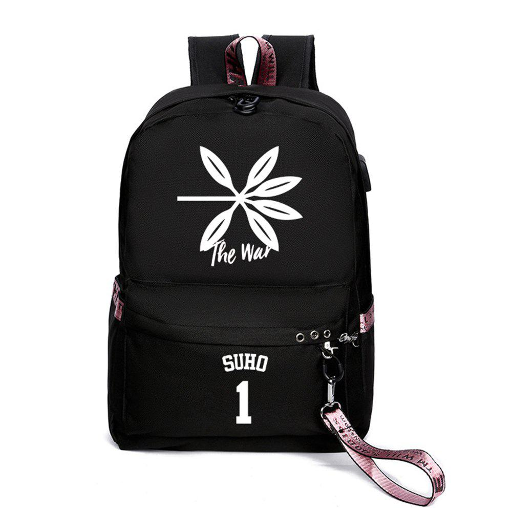 Online Same Style Casual Women'S College Wind Canvas Backpack