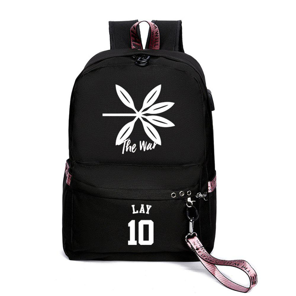 Sale Same Style Casual Women'S College Wind Canvas Backpack
