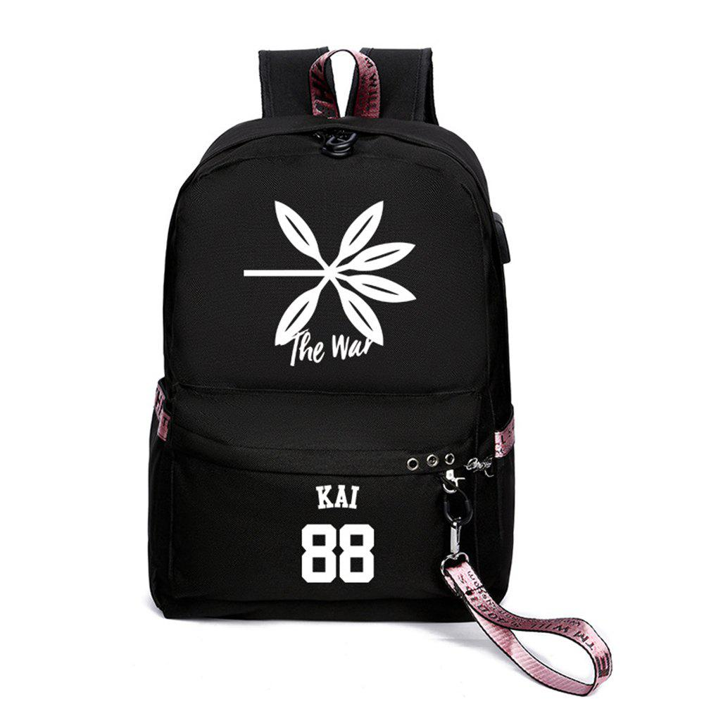 Best Same Style Casual Women'S College Wind Canvas Backpack