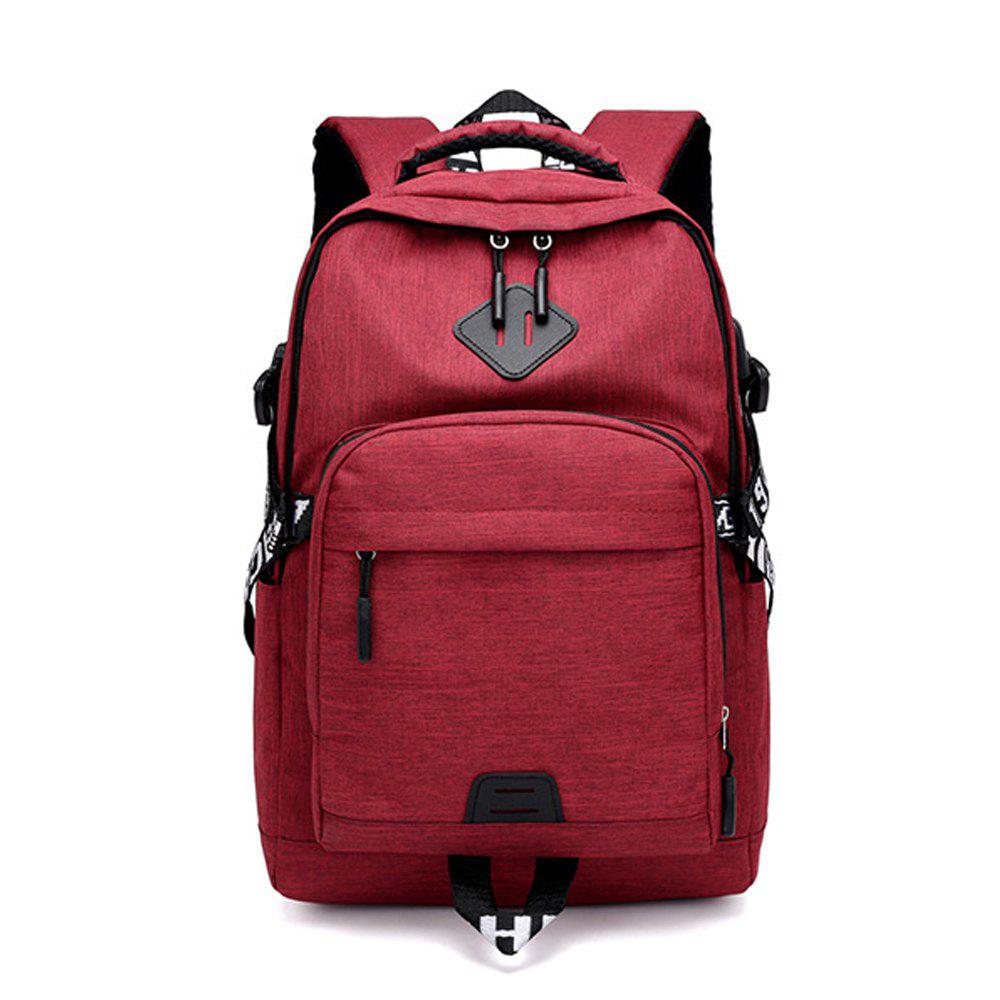 Shops Usb Charging Oxford Cloth Men'S and Women'S Leisure Travel Outdoor Backpack