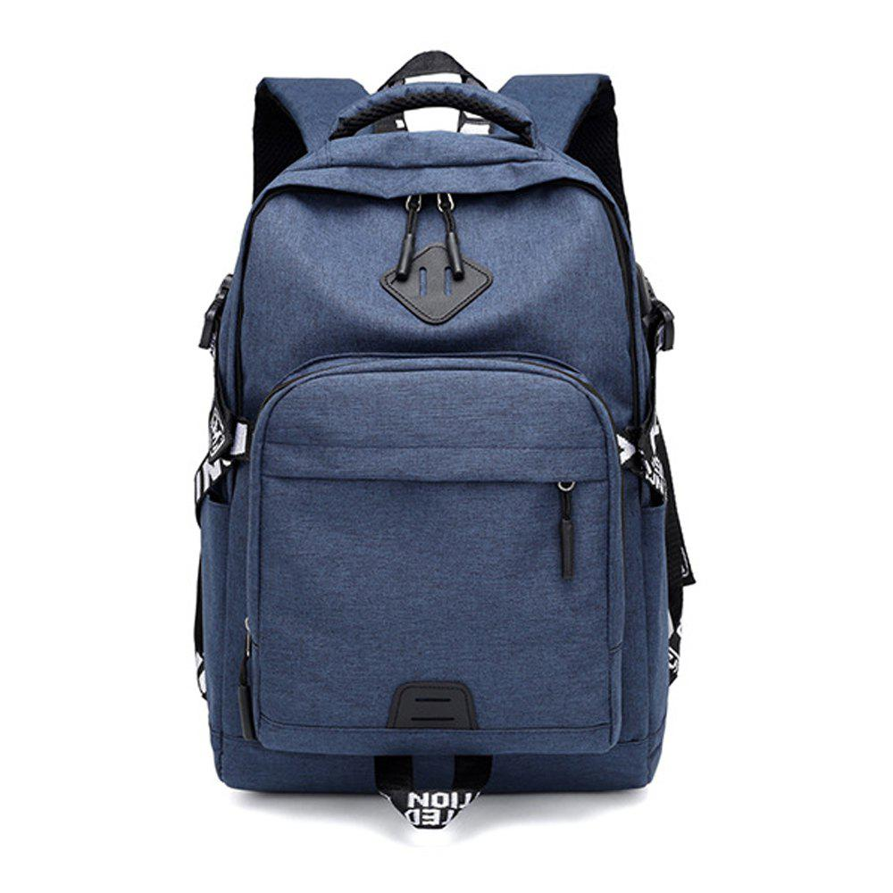 Online Usb Charging Oxford Cloth Men'S and Women'S Leisure Travel Outdoor Backpack