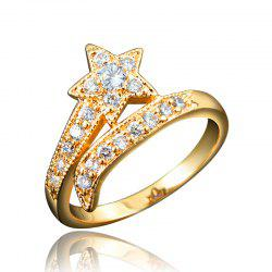 Top Quality 18K Gold Plated Rings For Women Star-Shaped Jewelry Ring for Wedding -