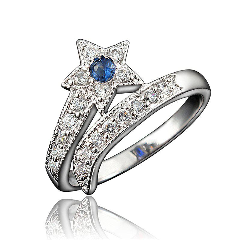 Best Top Quality 18K Gold Plated Rings For Women Star-Shaped Jewelry Ring for Wedding