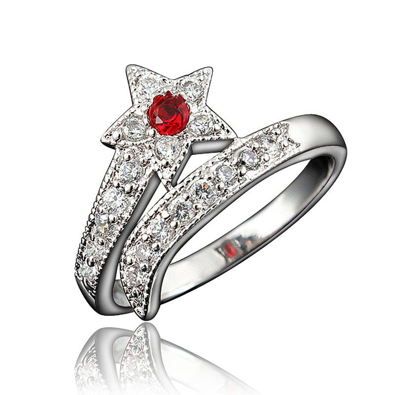 Outfits Top Quality 18K Gold Plated Rings For Women Star-Shaped Jewelry Ring for Wedding