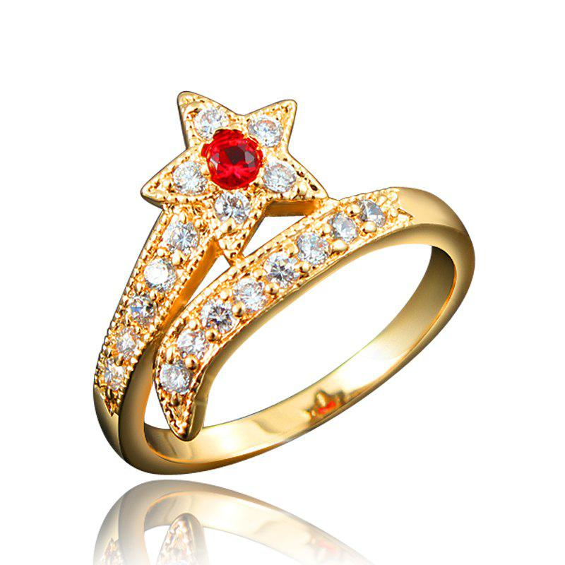Store Top Quality 18K Gold Plated Rings For Women Star-Shaped Jewelry Ring for Wedding