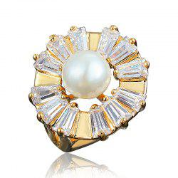 18K Gold Plated Designer Fine Jewelry Zircon Crystal Creative Rings for Women -