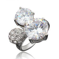 Zircon 18K Gold Plated Rings for Women Jewelry Crystals Wedding Rings Female -