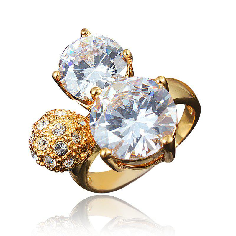 Shop Zircon 18K Gold Plated Rings for Women Jewelry Crystals Wedding Rings Female
