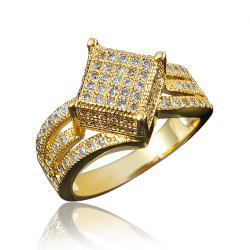 Rings For Women 18K Gold Plated Jewelry Wedding Ring Anniversary Gift -