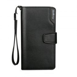 Baellerry Men Wallets Men Purse Portefeuille Casual - Noir 19,5 * 10,5 * 3cm