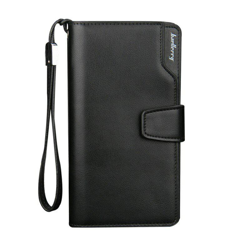 Baellerry Men Wallets Men Purse Portefeuille Casual Noir 19,5 * 10,5 * 3cm