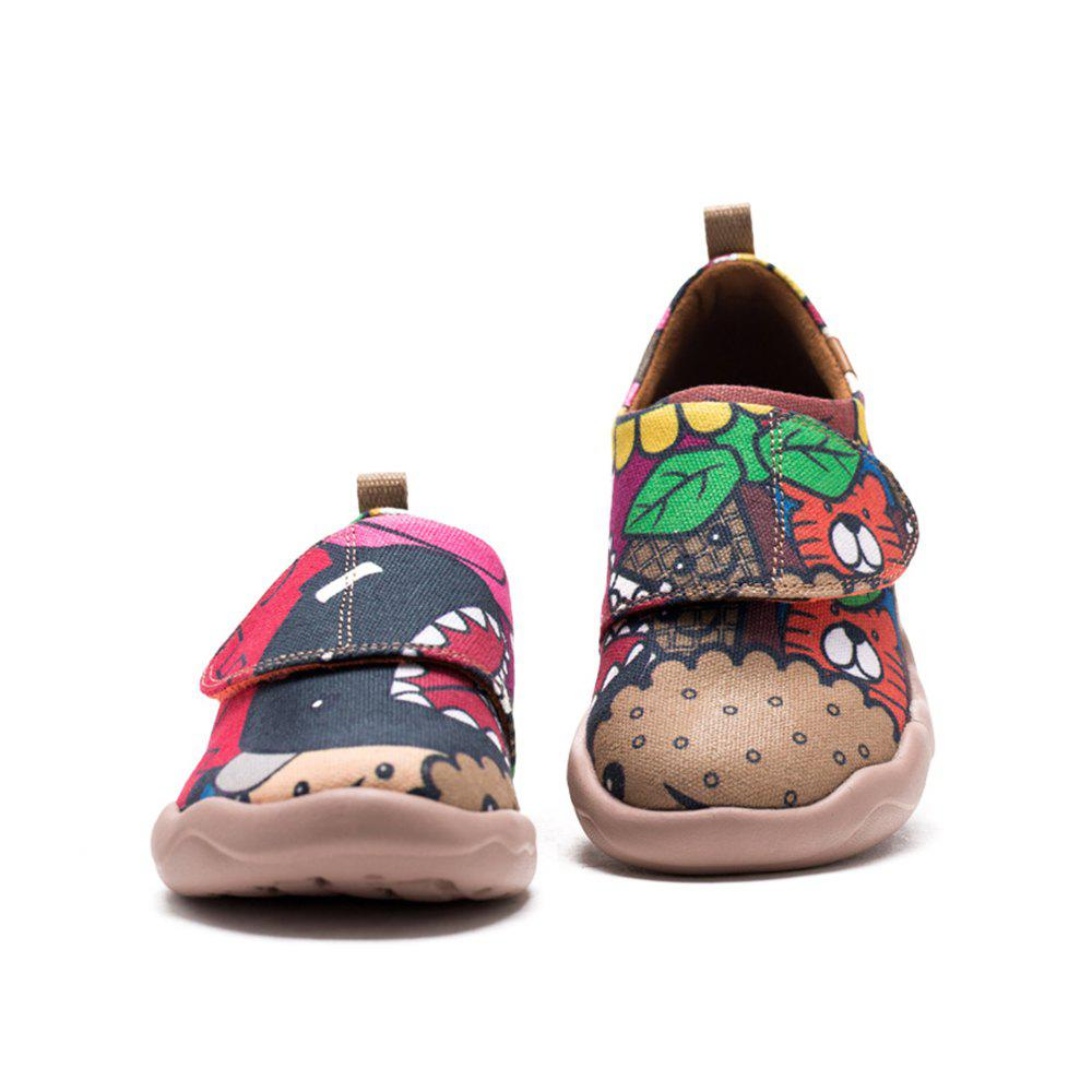 Hot UIN Kid's Painted girl Canvas Slip-On Fashion Travel Shoes Art Casual Shoes