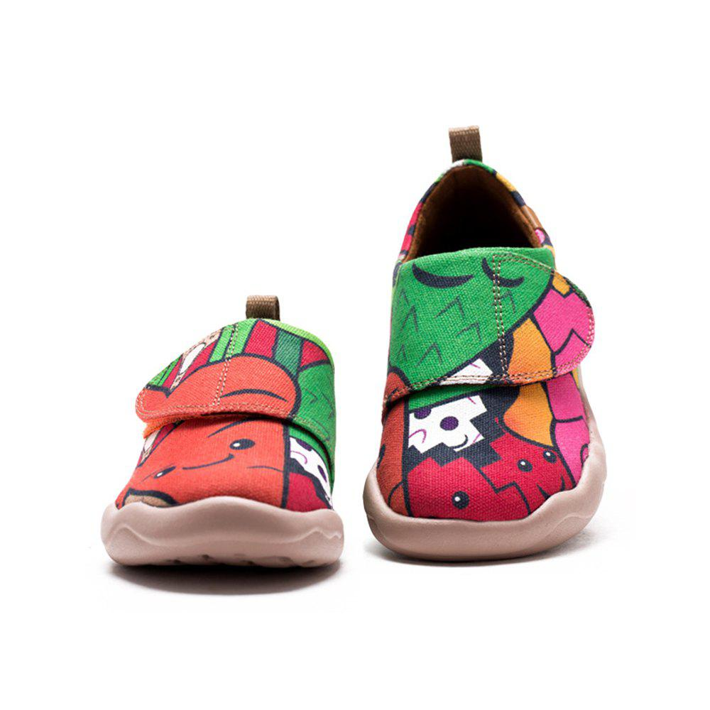 Sale UIN Kid's Painted Carrot and his friends Canvas Slip-On Art Casual Shoes