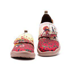 UIN Kid's Painted Flower Field Canvas Slip-On Fashion Travel Art Casual Shoes -