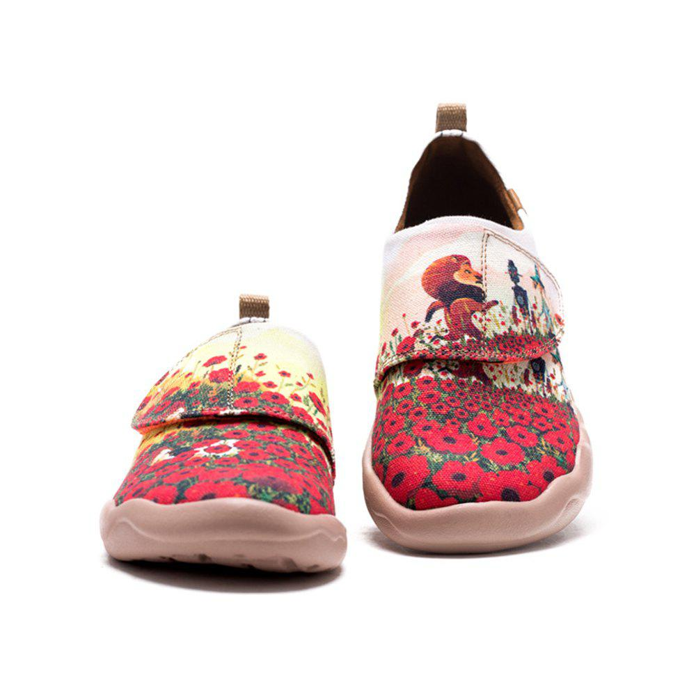 Fancy UIN Kid's Painted Flower Field Canvas Slip-On Fashion Travel Art Casual Shoes