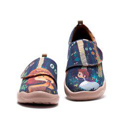 UIN Kid's Painted Cowardly Lion Canvas Slip-On Fashion Travel Art Casual Shoes -