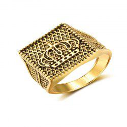 Golden Gilded Ring for Fashion Men -