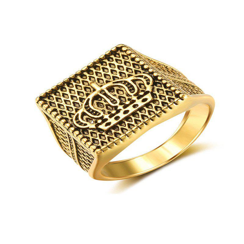Shops Golden Gilded Ring for Fashion Men