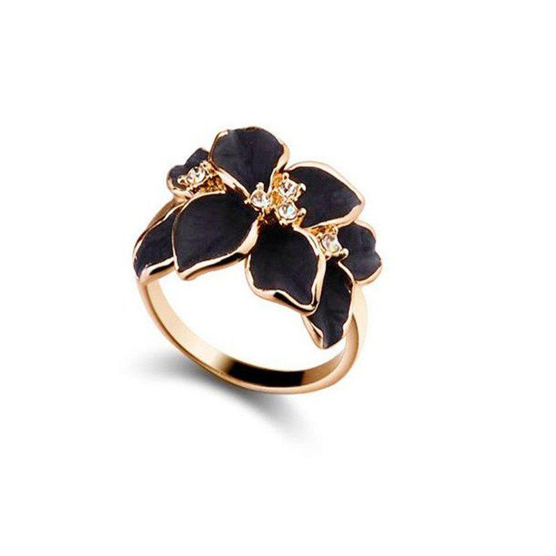 Chic Delicate Fashionable Lady  Flower Ring
