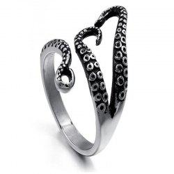 Punk Trend Lady Octopus Ring -