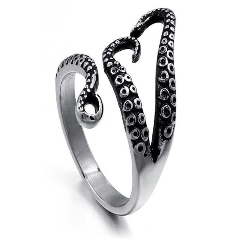 Sale Punk Trend Lady Octopus Ring