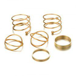 Beautiful Fashion Ladies Six Sets of Exaggerated Rings -