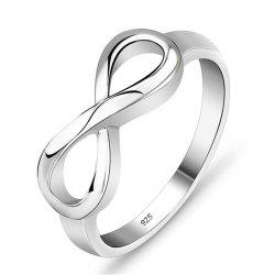 Trendy Elaborate Lady's 8-Character Ring -