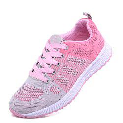 Flying Woven Mesh Flat Bottom Women'S Shoes Hollow Mesh Breathable Sneakers -
