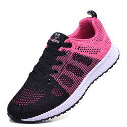 Flying Sneakers respirant maille creuse chaussures de fond plat maille tissée femmes -