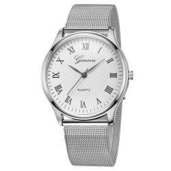 GENEVA Women Roman Stainless Steel Quartz Watch -