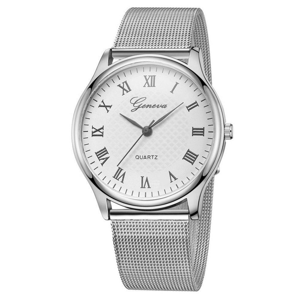 Best GENEVA Women Roman Stainless Steel Quartz Watch