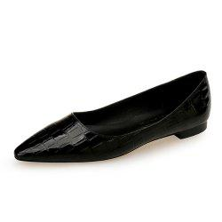 European Style Pointed Shallow Mouth Flat Heel Women'S Shoes -