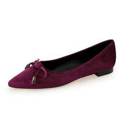 Pointed Sweet Bow Flat Shoe -