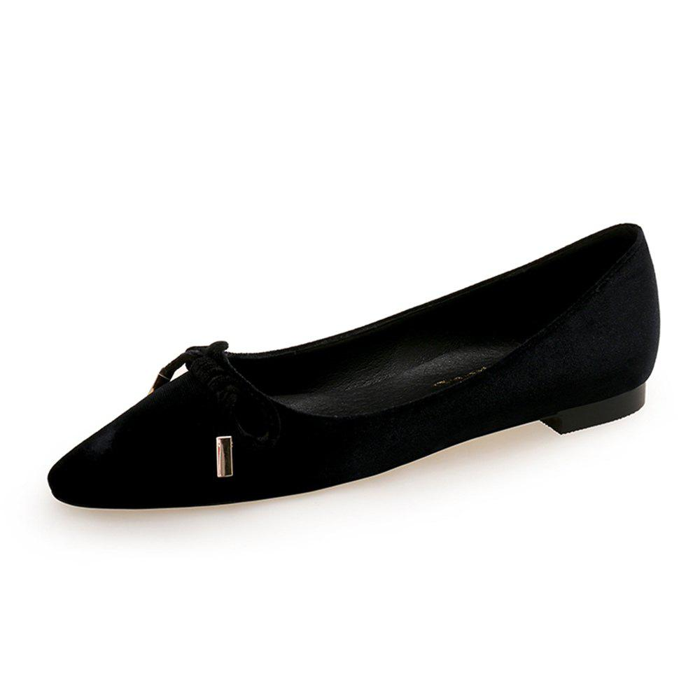 Sale Pointed Sweet Bow Flat Shoe