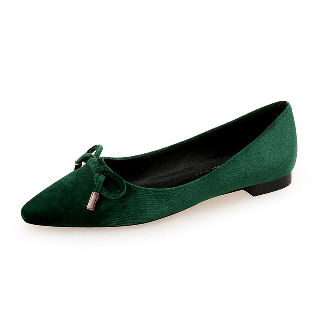 Chic Pointed Sweet Bow Flat Shoe