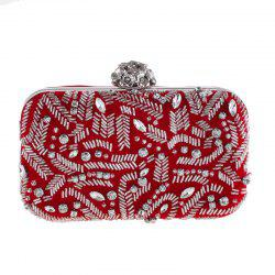 Fashion Flannelette Beaded Individuality Leisure Evening Bag Package Process -