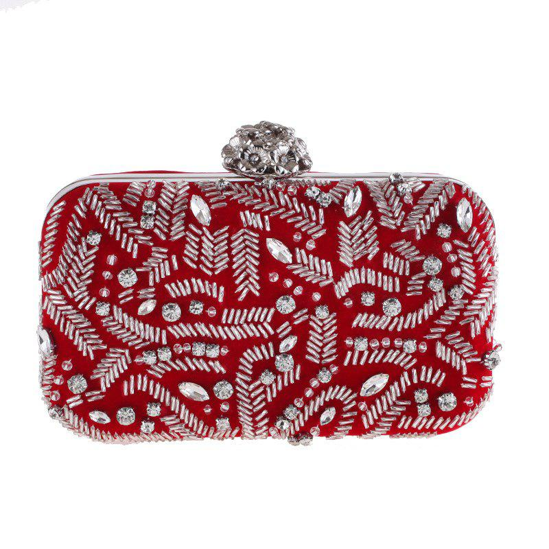 Best Fashion Flannelette Beaded Individuality Leisure Evening Bag Package Process