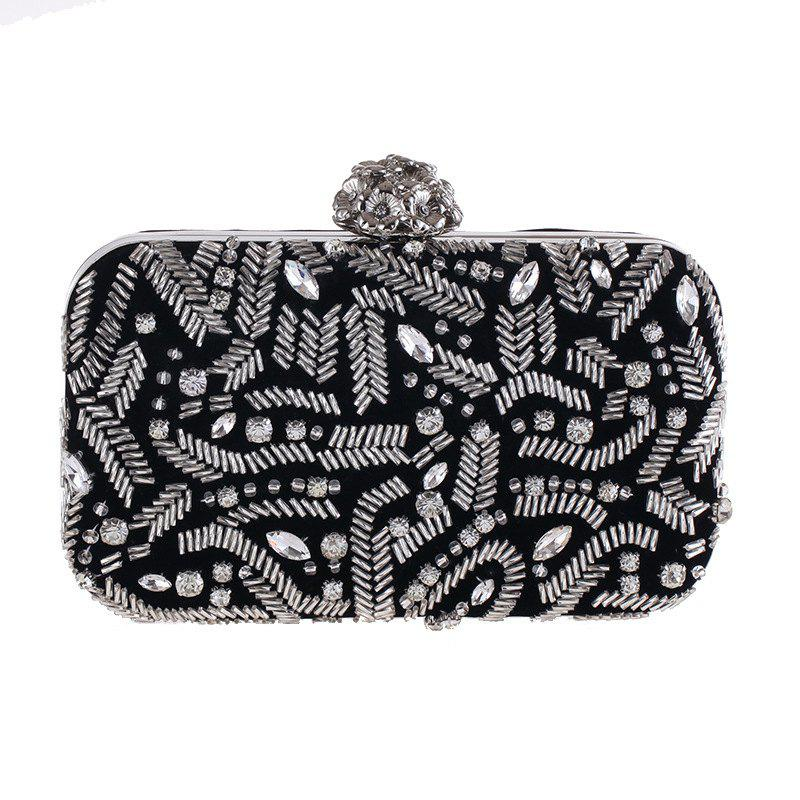 Hot Fashion Flannelette Beaded Individuality Leisure Evening Bag Package Process