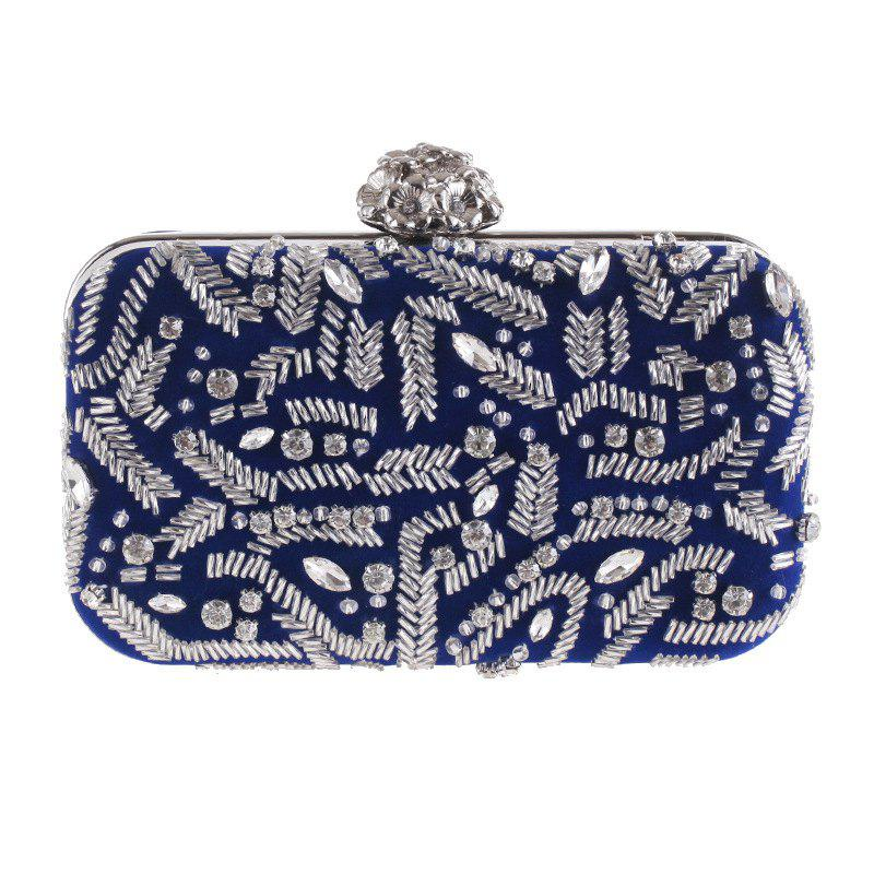 Shop Fashion Flannelette Beaded Individuality Leisure Evening Bag Package Process