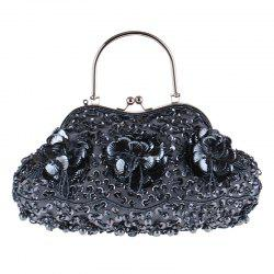 Ladies Fashion Trend in Traditional Manual Dinner Package Delicate Beaded Bag -