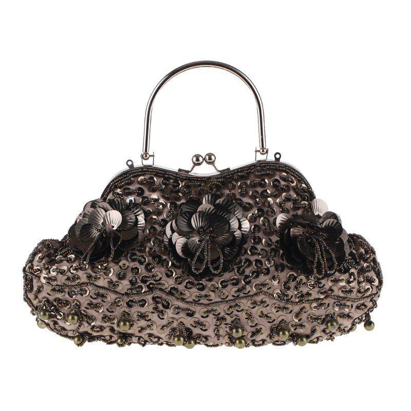 Trendy Ladies Fashion Trend in Traditional Manual Dinner Package Delicate Beaded Bag