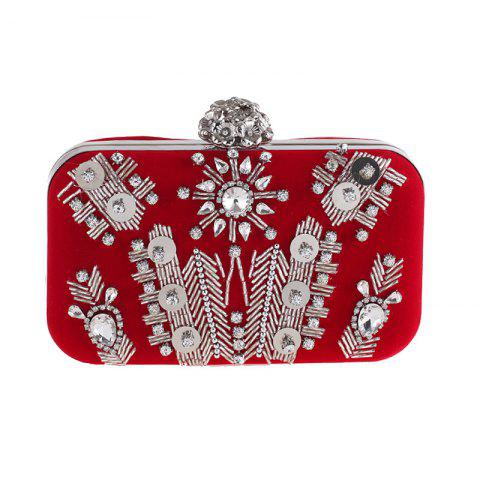 The New Beaded Evening Bags Flannel Gown Dinner Will Bag Set Auger Hand Bag f37dfd7fce00