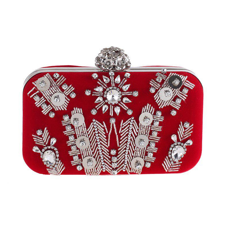 New The New Beaded Evening Bags Flannel Gown Dinner Will Bag Set Auger Hand Bag