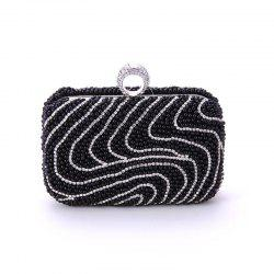 Ladies Fashion New Hand Bag Set Auger Refers To Buckle Beaded Evening Bag -
