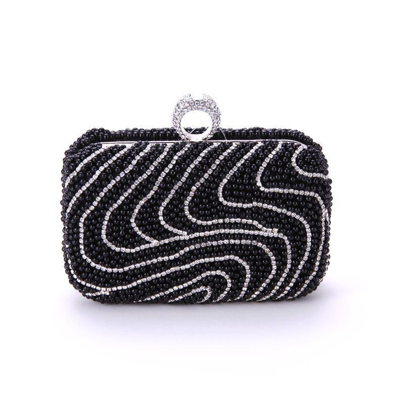 Trendy Ladies Fashion New Hand Bag Set Auger Refers To Buckle Beaded Evening Bag