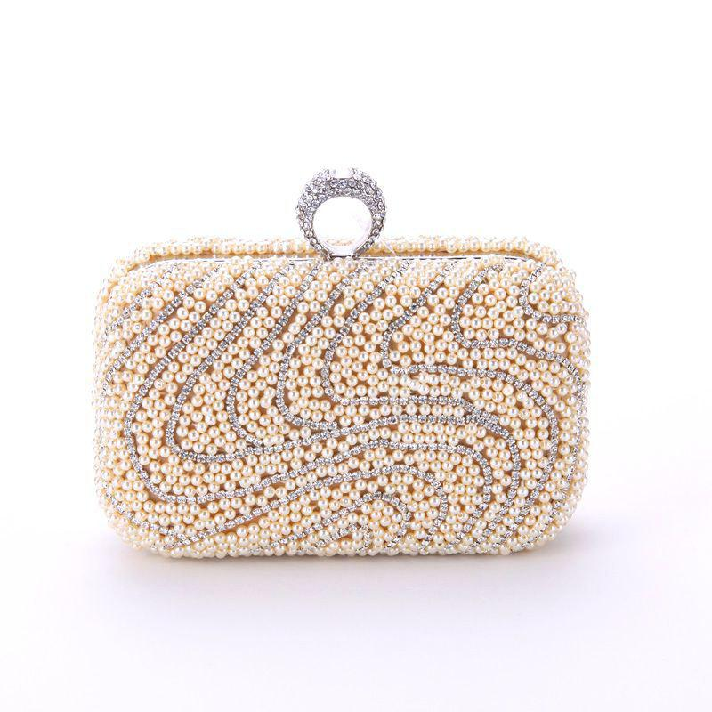 Cheap Ladies Fashion New Hand Bag Set Auger Refers To Buckle Beaded Evening Bag