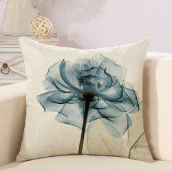 Flower Series Office Cotton and Linen Car Cushion Pillowcase -