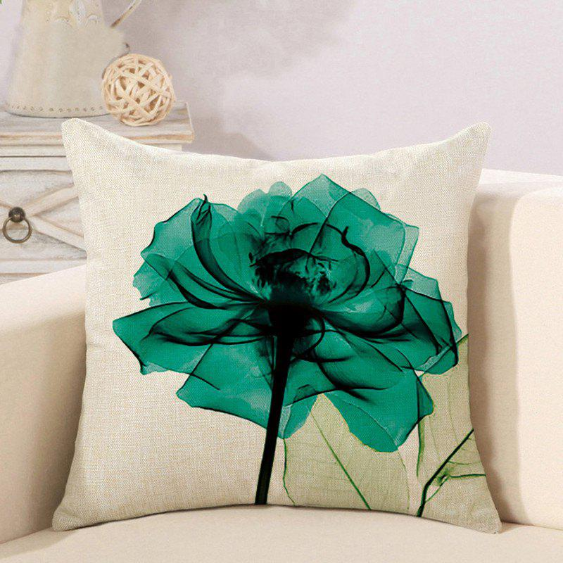 Outfits Flower Series Office Cotton and Linen Car Cushion Pillowcase