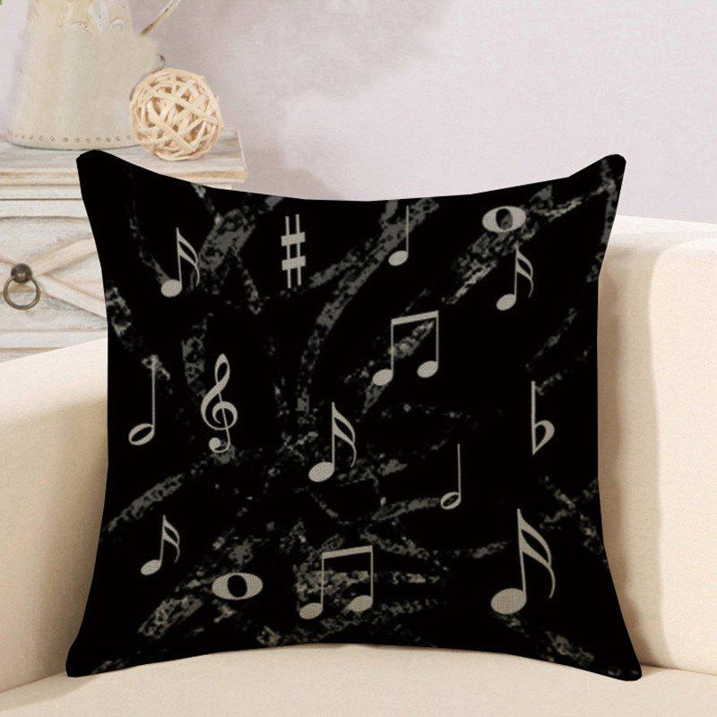 Fancy Letter Notes Piano Pattern Digital Print Linen Hug Pillowcase